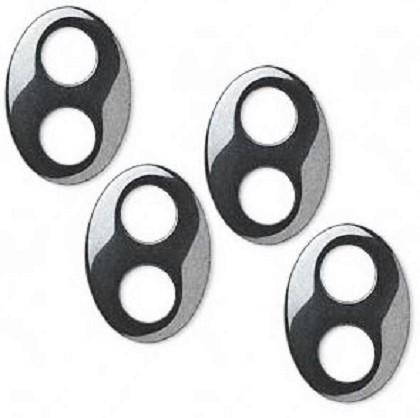 Hématite oval 2 trous 13 x 18mm