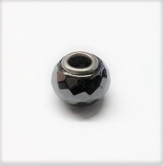 Hématite pandora facetté 14mm