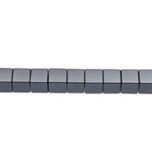 Hématite cube 6mm