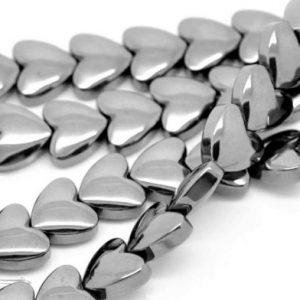 Hématite coeur 6mm