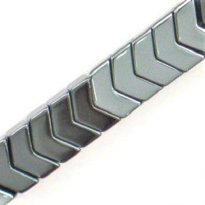 Hématite chevron 8mm