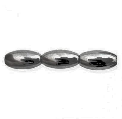Hématite oval 6 x 12mm