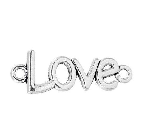 """Connecteur """"love"""" en métal 40 x 15mm"""