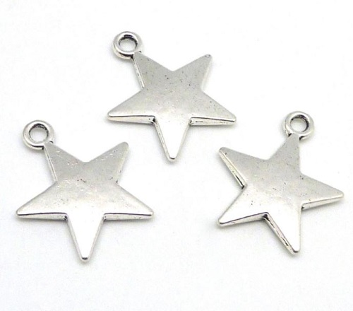Pendentif étoile en métal 29 x 20mm