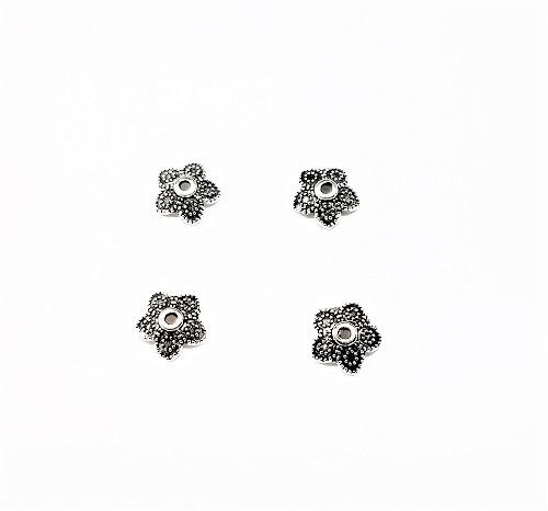 Capuchon de perle en métal 8mm