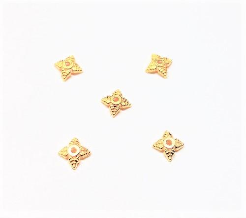 Capuchon de perle en métal 6mm