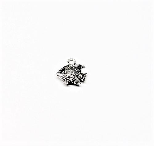 Pendentif poisson en métal 12 x 12mm
