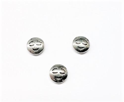 Émoticône sourire en métal 10mm