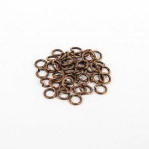 Anneau simple couleur cuivre sans nickel, sans plomb