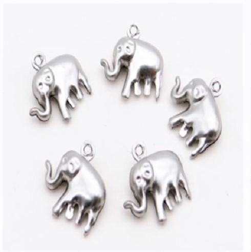 Pendentif éléphant en acier inoxydable