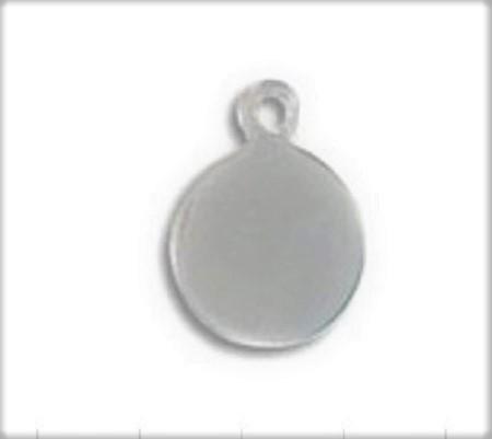 Pendentif tag rond en acier inoxydable