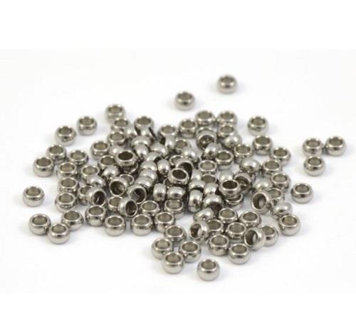 Perle à écraser 2mm en acier inoxydable