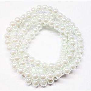 Perle de verre satinée 12mm
