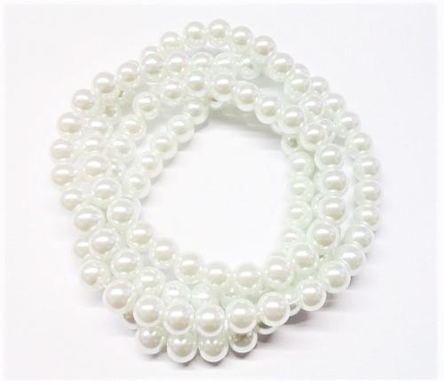 Perle de verre satinée 6mm