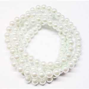 Perle de verre satinée 8mm