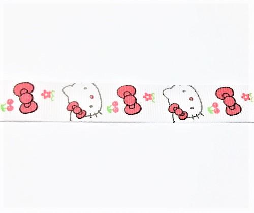 "Ruban simple face ""Hello Kitty"" 16mm"