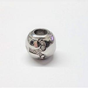 Bille en acier inoxydable avec signe astrologique BÉLIER en pierre du rhin