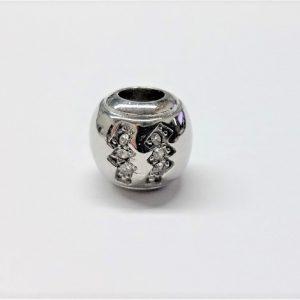 Bille en acier inoxydable avec signe astrologique VERSEAU en pierre du rhin