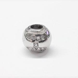 Bille en acier inoxydable avec signe astrologique GÉMEAU en pierre du rhin