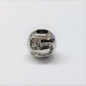 Bille en acier inoxydable avec signe astrologique LION en pierre du rhin