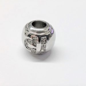 Bille en acier inoxydable avec signe astrologique BALANCE en pierre du rhin