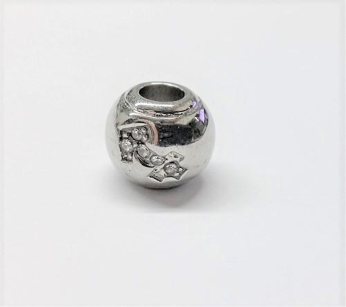 Bille en acier inoxydable avec signe astrologique SAGITTAIRE en pierre du rhin