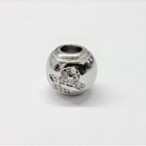 Bille en acier inoxydable avec signe astrologique CAPRICORNE en pierre du rhin