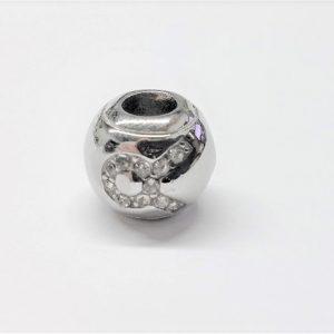 Bille en acier inoxydable avec signe astrologique TAUREAU en pierre du rhin