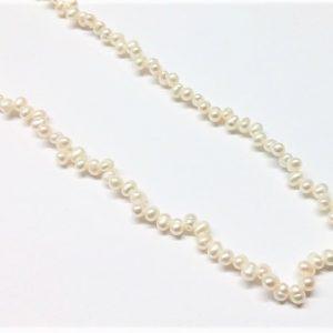 """Perle véritable poire """"tit-tat"""" naturel 3-4mm"""