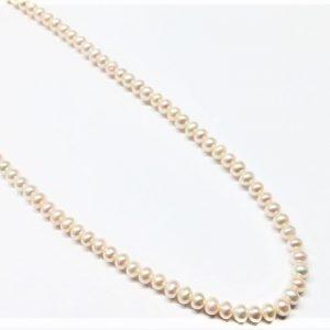 Perle véritable semi-rond à potato naturel 3-3.5mm