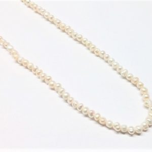 Perle véritable potato blanc 3-4mm