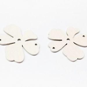 Connecteur de bois en forme de fleur 48mm
