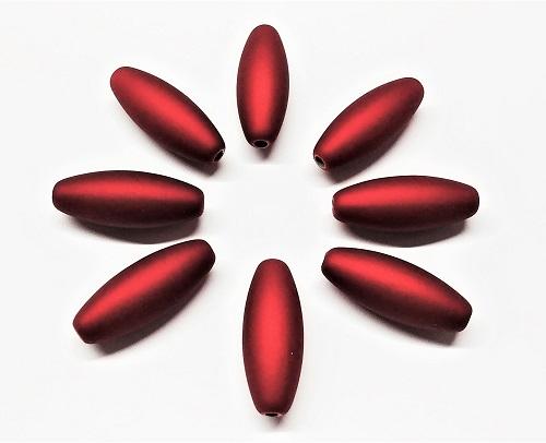 Tube en acrylique fini velours rouge