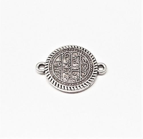 Connecteur rond argent antique 20mm