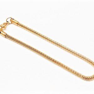 """Bracelet chaîne """"knitmesh"""" en acier inoxydable or"""