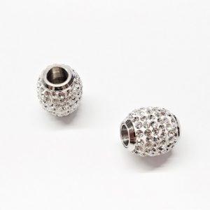 Attache magnétique en acier inoxydable avec cristal 14 x 16mm Trou 6mm