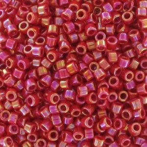 DB-0162 Delica 11/0 Miyuki Red Opaque AB