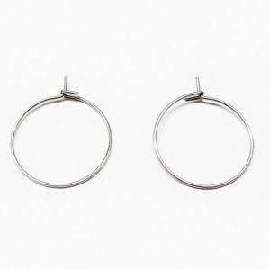 Acier inoxydable anneau pour boucle d'oreille ou marqueur à vin
