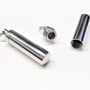 Pendentif à message en acier inoxydable 38 x 8mm Trou 6mm