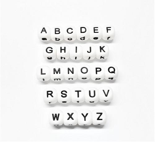 Lettre d'alphabet en silicone - 15 x 15mm