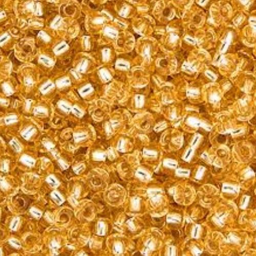Rocaille Miyuki 11/0 Light Gold Silver Lined