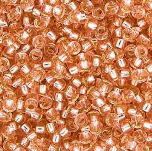 Rocaille Miyuki 11/0 Pink Miste Silver Lined