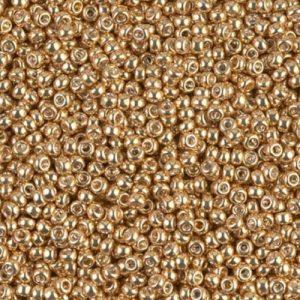 Rocaille Miyuki 11/0 Gold Galvanized