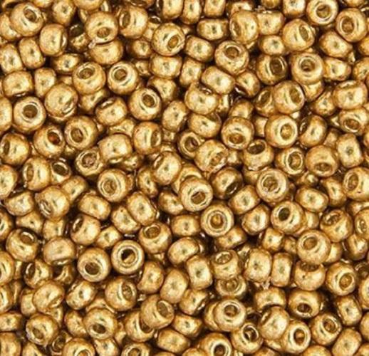 Rocaille Miyuki 11/0 Galvanized Duracoat Gold