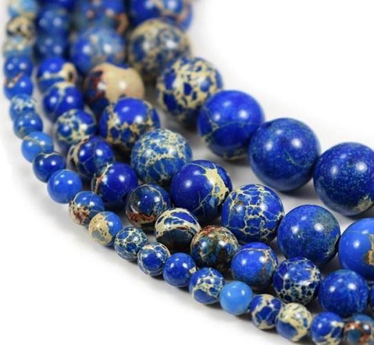 Jaspe Imperial Mer des Sédiments teint bleu foncé
