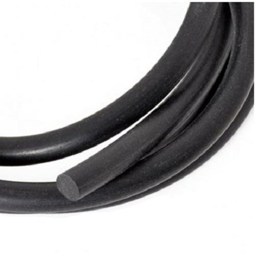 Cordon en caoutchouc synthétique noir rond sans trou