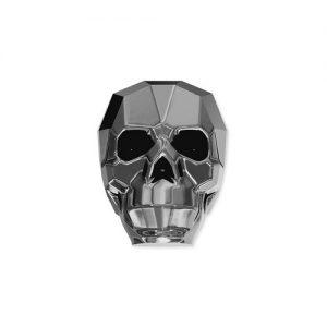 Swarovski 5750 Skull 13mm silver night crystal