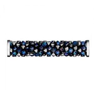 Swarovski 5950 tube acier inoxydable 15mm bermuda blue