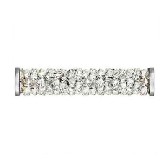 Swarovski 5950 tube acier inoxydable 15mm crystal moonlight