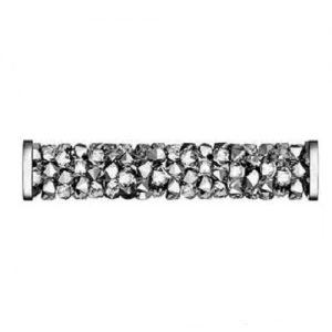 Swarovski 5950 tube acier inoxydable 15mm crystal light chrome